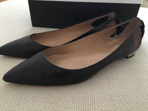 Aquazzura Ballerina's met kant zwart-goud