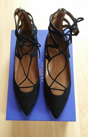 Aquazzura Ballerinas black suede