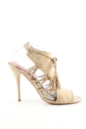 Aquazzura High Heel Sandaletten creme Casual-Look