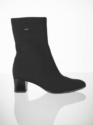 ara Heel Boots black-silver-colored synthetic