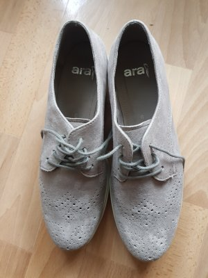 ara Lace-Up Sneaker silver-colored-light grey