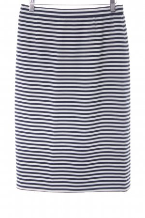 ara Pencil Skirt white-dark blue striped pattern business style