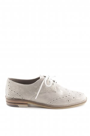 ara Wingtip Shoes light grey-natural white elegant