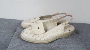 Ara Damen Echtleder Sandaletten Naturform Luftpolster Größe 8 (42) altweiß