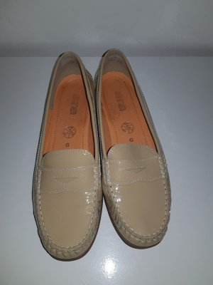 ara Moccasins gold-colored leather