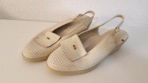ara Sandalias de tacón de tiras blanco puro Cuero