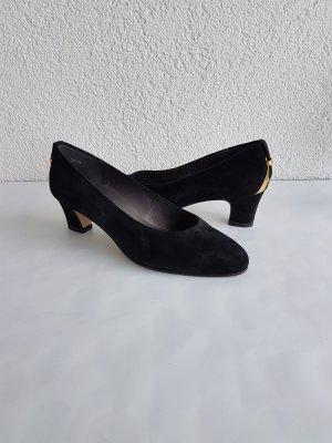 ara Mary Jane Pumps black-gold-colored mixture fibre