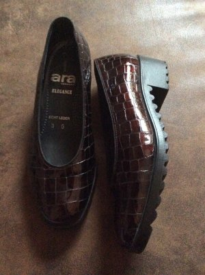ara Slippers black brown-cognac-coloured