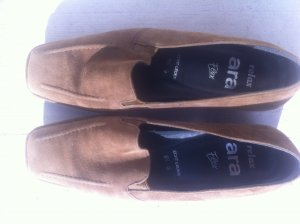 ara Slip-on Shoes light brown leather