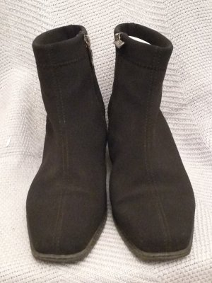 ara Zipper Booties black synthetic