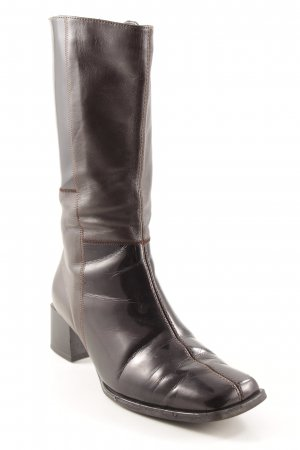 ara Buskins dark brown leather-look