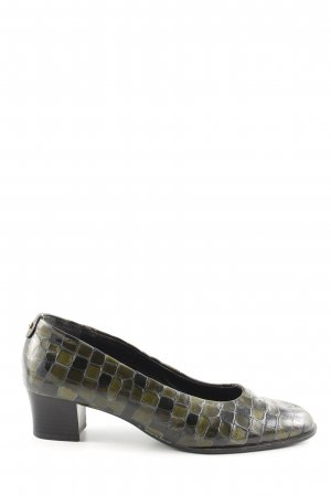 ara High Heels khaki-brown allover print business style