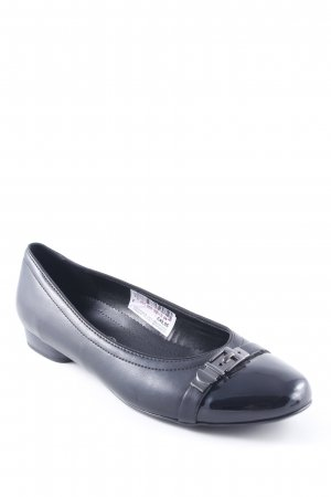 ara Patent Leather Ballerinas black Buckle elements