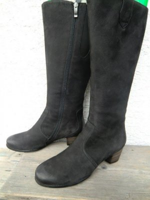 ara Heel Boots black leather