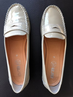 ara Slip-on Shoes sand brown leather