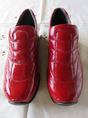 ara Slip-on Shoes brick red-black leather