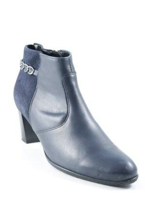 ara Reißverschluss-Stiefeletten blau-dunkelblau klassischer Stil