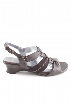 ara Strapped Sandals brown casual look