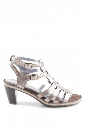 ara Strapped High-Heeled Sandals gold-colored casual look