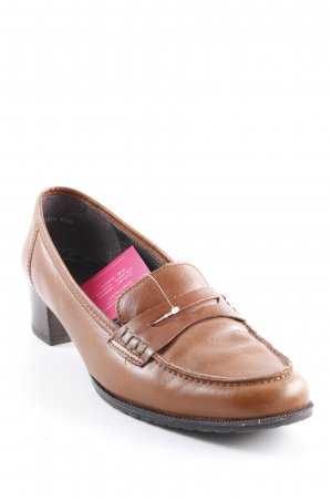 ara Slip-on Shoes cognac-coloured country style