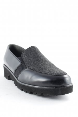 ara Scarpa slip-on nero-antracite Stile Brit