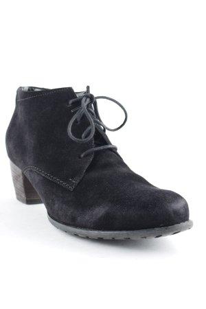 ara Schnür-Stiefeletten schwarz Elegant