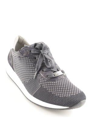 ara Lace-Up Sneaker dark brown-silver-colored casual look