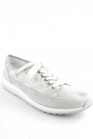 ara Zapatilla brogue gris claro-color plata estampado de animales look casual