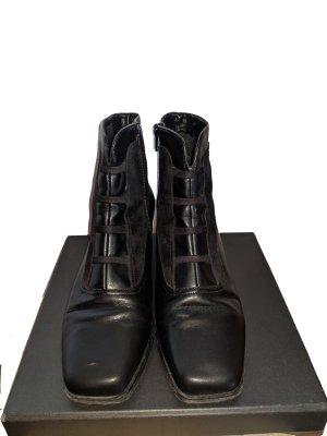 ara Stivaletto con zip nero-antracite Pelle