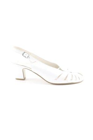ara Slingback-Pumps weiß Elegant