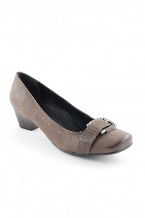 ara Backless Pumps grey brown casual look