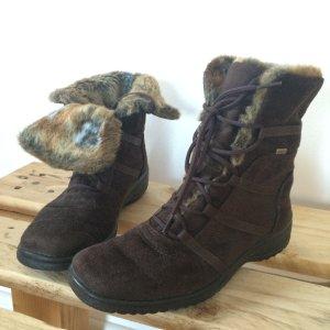 Ara Stiefel braun Gr. 39 Fell ugg Boots Winterschuhe goretex