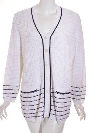 ara Giacca in maglia bianco-blu scuro motivo a righe stile classico