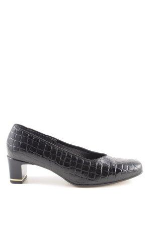 ara Loafers zwart dierenprint zakelijke stijl