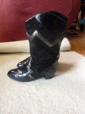 ara Western Boots black-gold-colored leather
