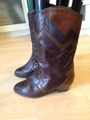 ara Booties brown-brown red leather