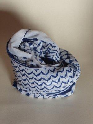 Arafat sjaal wit-blauw Viscose