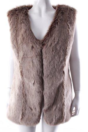 Arcanum Fake Fur-Weste beige
