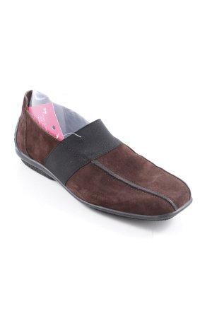 Arche Zapatos sin cordones negro-marrón oscuro look casual