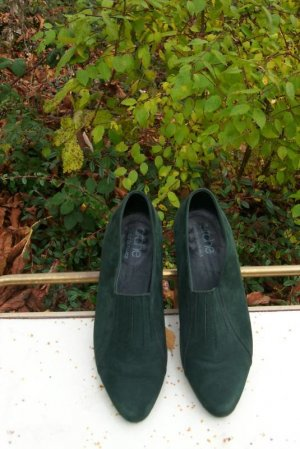 Arche Slip-on Shoes forest green leather