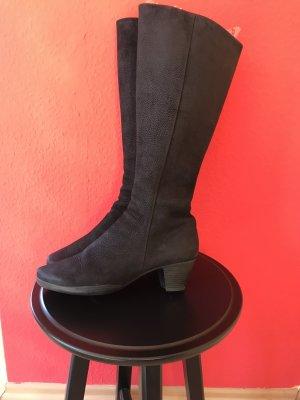 Arche Stiefel Nubuk Leder 39 schwarz Schaft etwa S
