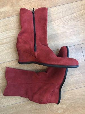 Arche Cothurne rouge brique-rouge carmin cuir