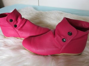 Arche Slip-on Booties magenta leather