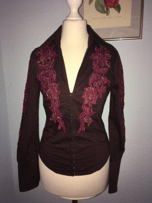 Shirt met lange mouwen paars-bruin-paars