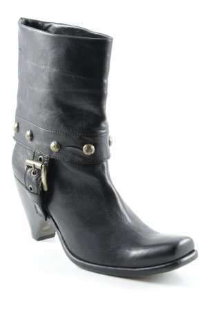 Area Forte Western Booties black-gold-colored casual look