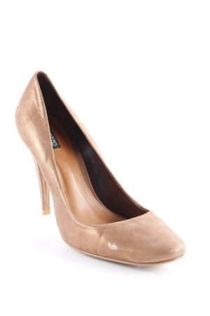 Arezzo Tacones altos color bronce look efecto mojado