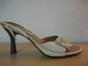 ariane deichmann sandaletten wie neu gr. 38 blume creme