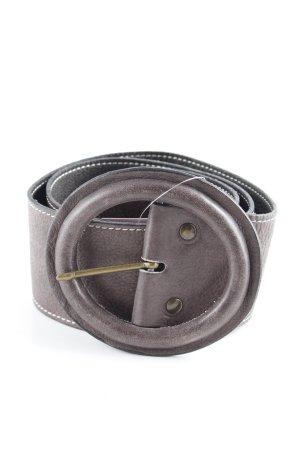 Aridza Bross Cinturón de cadera marrón-negro look casual