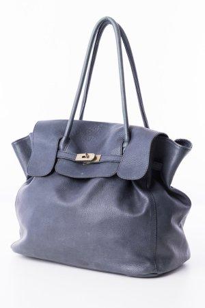 ARIDZA BROSS - Shopper Leder Dunkelblau