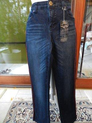 *** Arizona Jeans K-Gr. 21 (= Gr.42 kurz) used Optik, Glitzerstreifen - Neu ***